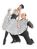 Junte el estilo de Latina de los bailarines Foto de archivo libre de regalías