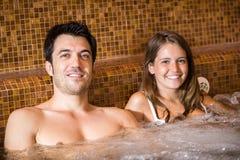 Junte hacer un baño del torbellino en un balneario Fotografía de archivo libre de regalías