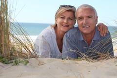 Junte la colocación en la playa imagen de archivo
