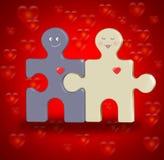 Junte-se ao enigma. Conceito do casamento Imagens de Stock Royalty Free