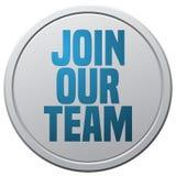 Junte-se a nosso Team Round Sign Foto de Stock