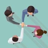 Junte-se a trabalhos de equipa das mãos