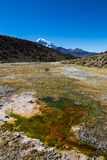 Junthuma geysers, formed by geothermal activity. Bolivia Stock Photos