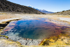 Junthuma geysers, formed by geothermal activity. Bolivia Stock Photo