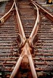 juntion合并铁路运输切换 免版税库存照片