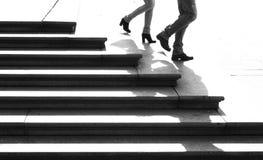 Junto abaixo das escadas Fotos de Stock