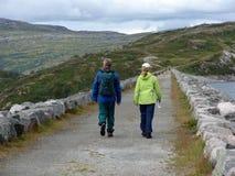 Junto alegre caminar Fotografía de archivo libre de regalías