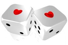 Junto, corações como um Imagem de Stock