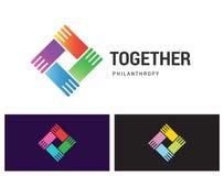 Junto filantropía Imagen de archivo libre de regalías