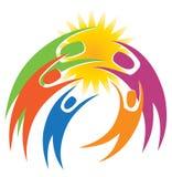 Junto logotipo de la gente stock de ilustración