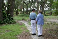 Junto no jardim Foto de Stock Royalty Free
