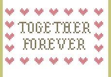 Junto por siempre bordado Imagen de archivo