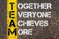 Juntos todo el mundo alcanza más - TEAM Concept Imagenes de archivo