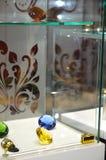 JUNWEX莫斯科2014雕琢平面的宝石 库存图片