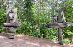 JuodkrantÄ-, neringaschiereiland, Litouwen, Europa, de heuvel van heksen Royalty-vrije Stock Foto's