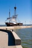 Barca a vela medievale di stile Immagine Stock