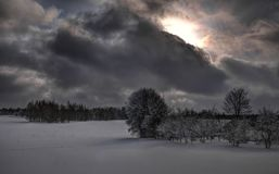 Winter cloudy day near Juozapine Hill Stock Images