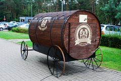 Juozo俄国啤酒的bravoras桶 免版税库存图片