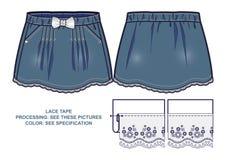 Jupe bleue de denim Photo stock
