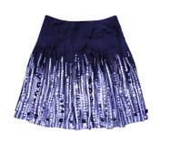 Jupe bleue de femmes Photographie stock