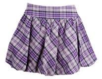 Jupe féminine de plaid image stock