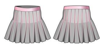 Jupe grise avec les éléments roses Photos libres de droits