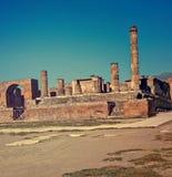 Jupiter świątynia w Pompeii Zdjęcia Stock