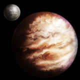 Jupiter. Space painting of the wild swirling surface of planet Jupiter Royalty Free Stock Images