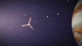 Jupiter, animacja, astronomia, atmosfera, tło, chmury, światło, księżyc, chodzenie, nasa, mgławica, orbita, orbituje, kosmos, pl ilustracji