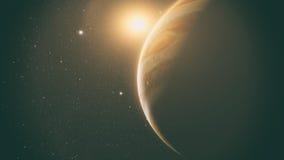 Jupiter with beautiful sunrise Stock Photos