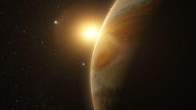 Jupiter with beautiful sunrise Stock Images