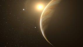 Jupiter with beautiful sunrise Royalty Free Stock Images
