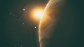 Jupiter with beautiful sunrise Royalty Free Stock Photo