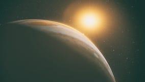 Jupiter with beautiful sunrise Royalty Free Stock Photography
