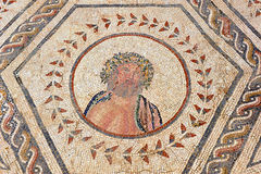 Jupiter, das Haus des Planetariums, römische Stadt von Italica, Andalusien, Spanien Stockbilder