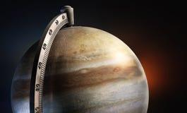Jupiter desktop globe with metal texture Stock Photo