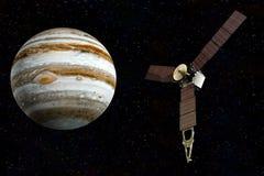 Jupiter et juno satellite images stock