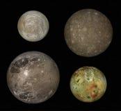 Jupiter et lunes photos stock