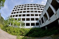 Jupiter Factory in abandoned Pripyat ghost town, Chernobyl Nucle Stock Image