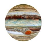 Jupiter - a giant planet in the solar system, 3D rendering, elements of this image furnished by NASA. Royalty Free Stock Images