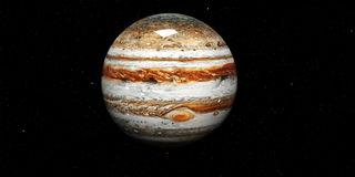 Jupiter - High resolution 3D images presents planets of the solar system. This image elements furnished by NASA. Stock Image