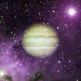 Jupiter im Weltraum Elemente dieses Bildes geliefert von der NASA lizenzfreie stockfotos