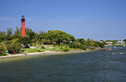 Jupiter Inlet Lighthouse stock image