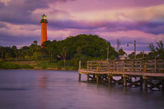 Jupiter Inlet Lighthouse Royalty-vrije Stock Fotografie
