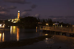 Jupiter Inlet  Lighthouse in Florida Stock Photo