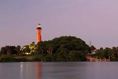 Jupiter Inlet Lighthouse historique photographie stock libre de droits