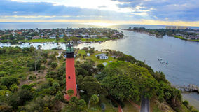 Jupiter Inlet Lighthouse no Júpiter, FLORIDA foto de stock