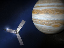 Jupiter and Juno space probe Royalty Free Stock Photo