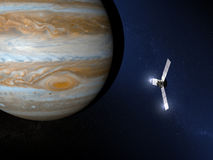 Jupiter and Juno space probe Stock Photos
