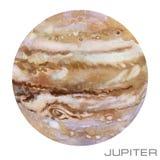 jupiter Jupitervattenfärgbakgrund stock illustrationer